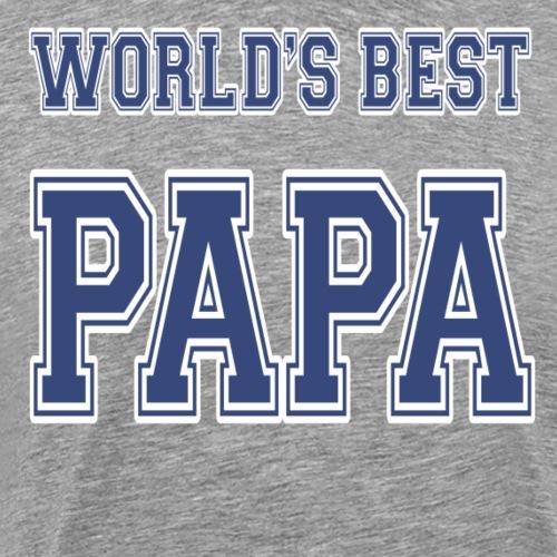 World's Best Papa Athletic - Men's Premium T-Shirt