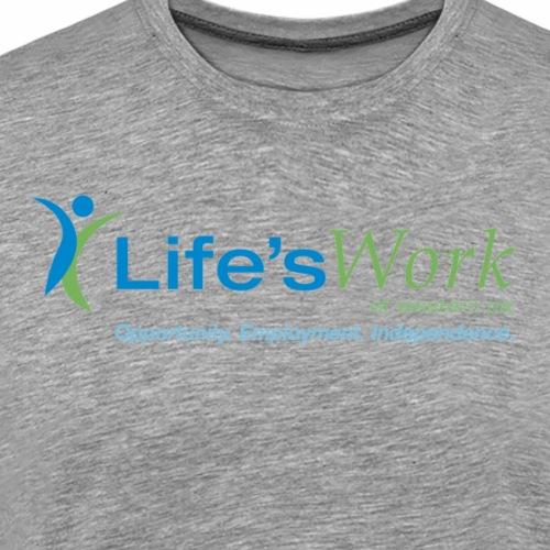 Life sWork Standard Logo - Grey - Men's Premium T-Shirt