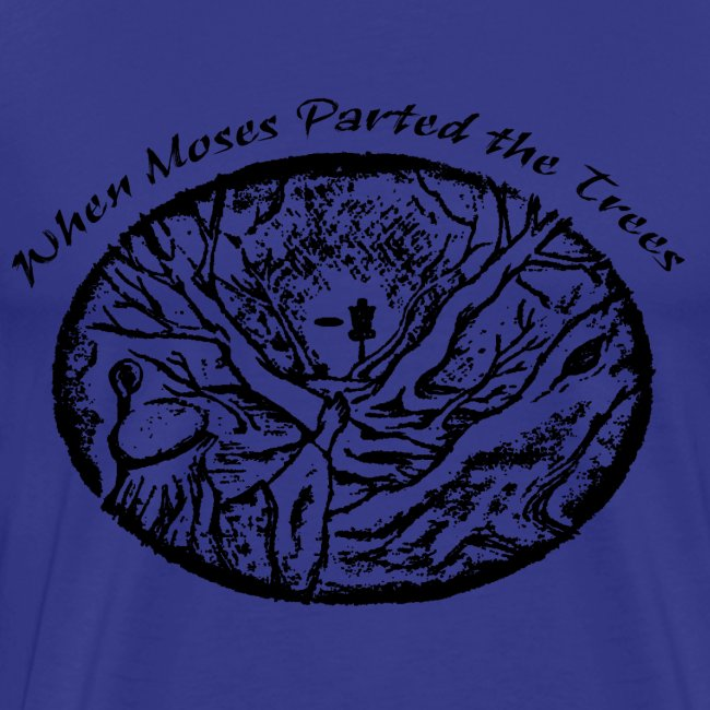 Moses Parted Trees Black