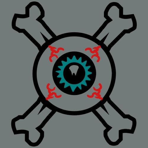 Eyeball and Crossbones for light coloured shirts - Men's Premium T-Shirt