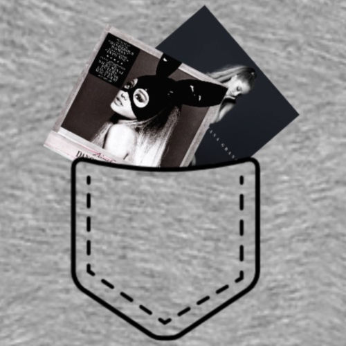 Pocket with CDs Ariana Grande - Men's Premium T-Shirt