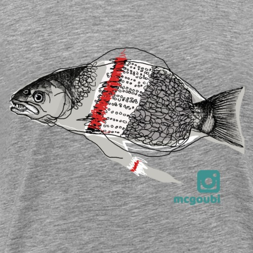 woolen fish - Men's Premium T-Shirt