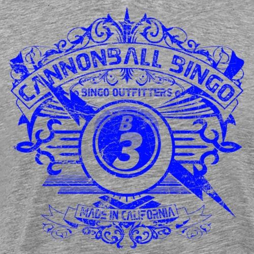 Vintage Cannonball Bingo Crest Blue - Men's Premium T-Shirt