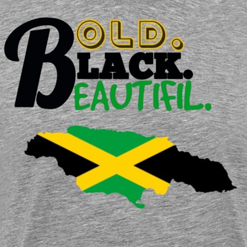 BOLD BLACK BEAUTIFUL JAMAICA - Men's Premium T-Shirt
