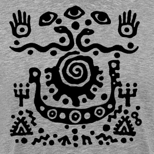 Three Eyes by Qenjo - Men's Premium T-Shirt