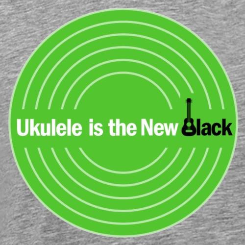 Ukulele Is The New Black Disc Logo - Men's Premium T-Shirt