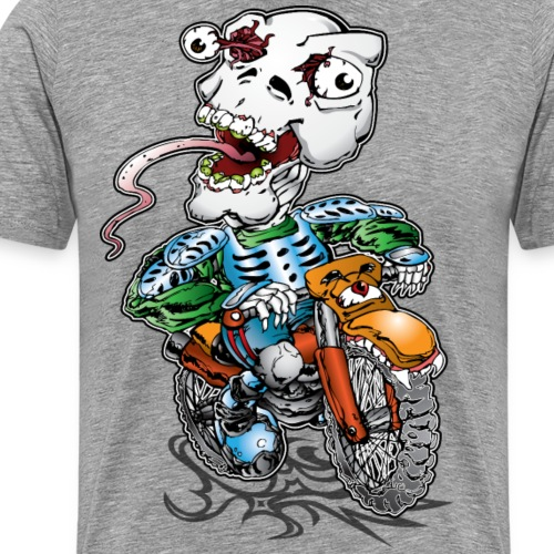 Skull-Tongued Dirtbiker - Men's Premium T-Shirt