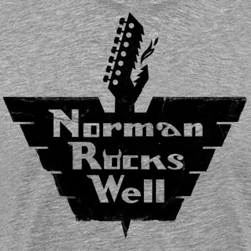 Norman Rocks Well logo in black. - Men's Premium T-Shirt