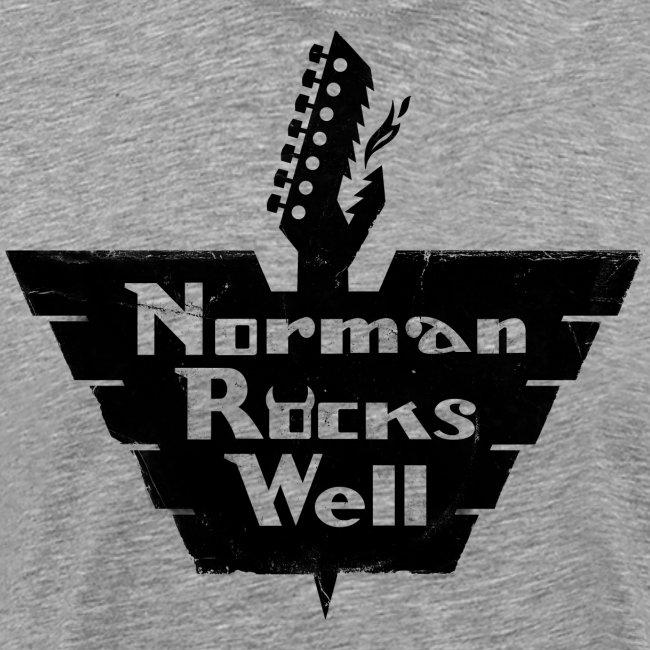 Norman Rocks Well logo in black.