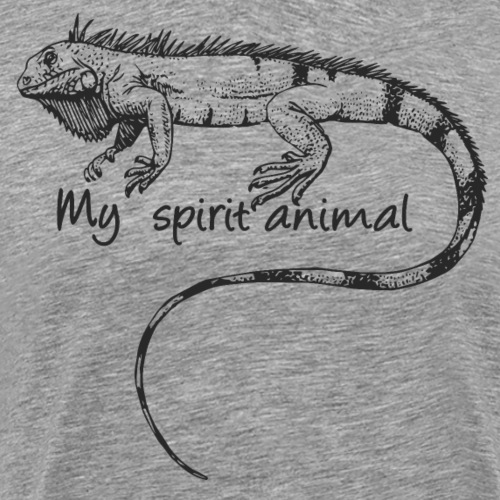 Iguana My spirit animal - Men's Premium T-Shirt
