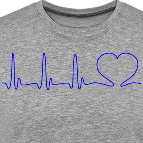 EKG HEARTBEAT blue - Men's Premium T-Shirt