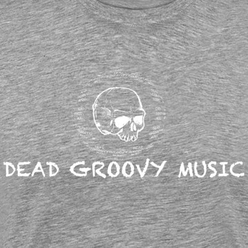 Dead Groovy Music - Basic Logo - White - Men's Premium T-Shirt