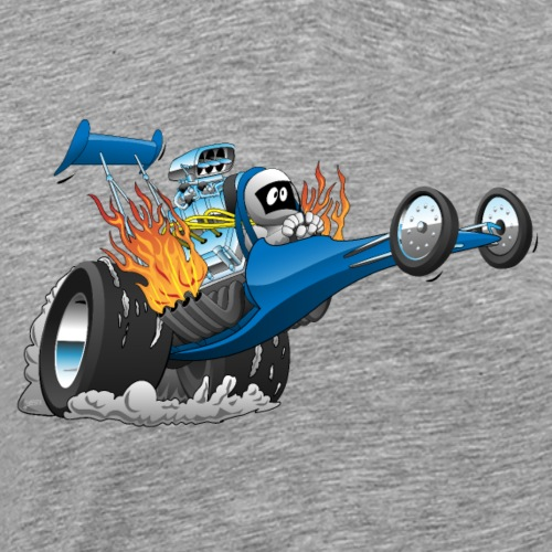 Top Fuel Dragster Cartoon - Men's Premium T-Shirt
