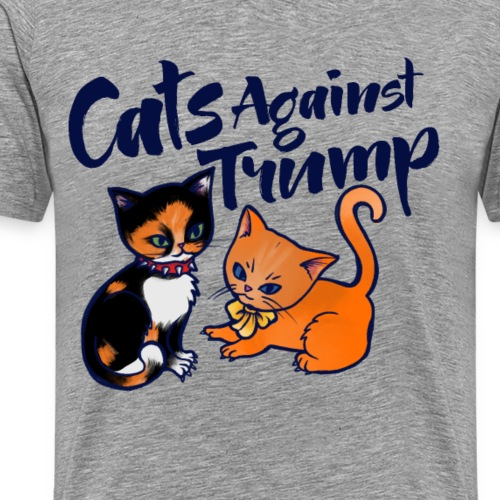 cats against trump - Men's Premium T-Shirt