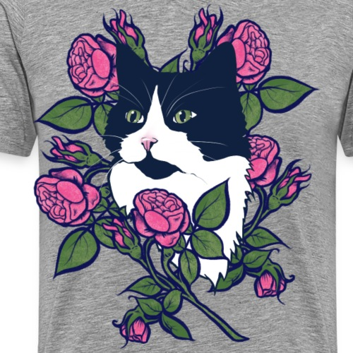 Tuxedo Cat - Men's Premium T-Shirt