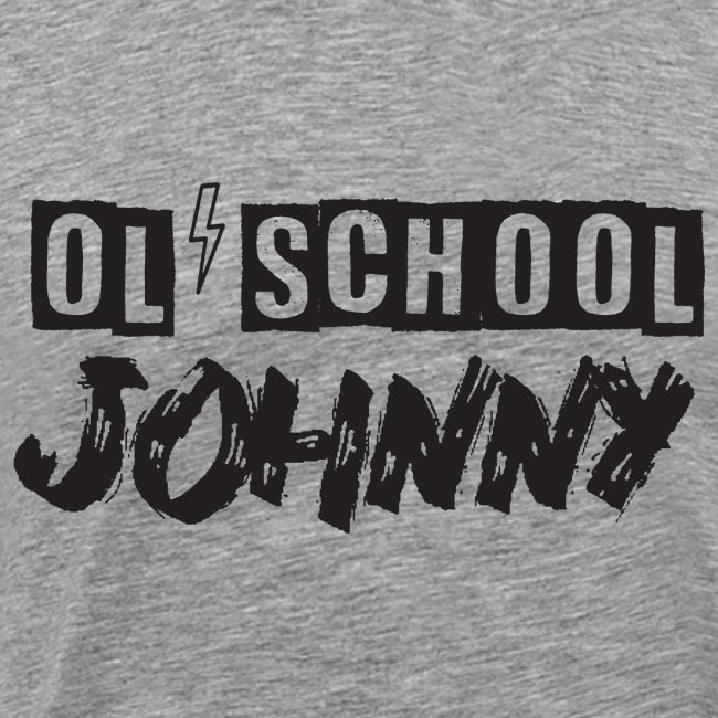 Ol' School Johnny Logo - Black Text