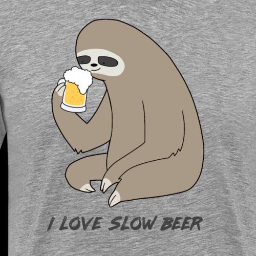 Beer Sloth Love Slow Beer Craft Beer - Men's Premium T-Shirt