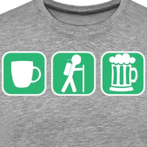 Coffe Hike Beer - Men's Premium T-Shirt
