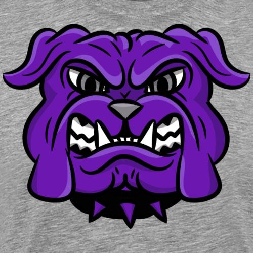custom purple bulldog mascot - Men's Premium T-Shirt