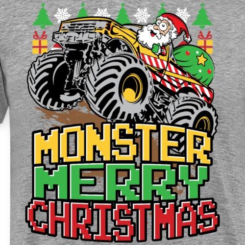 Santa Christmas Truck - Men's Premium T-Shirt