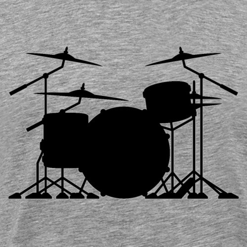 Drum set silhouette illustration - Men's Premium T-Shirt