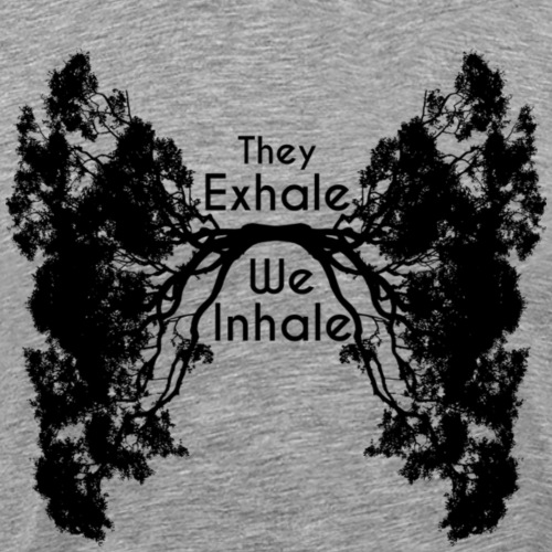 InhaleExhaleBlack - Men's Premium T-Shirt