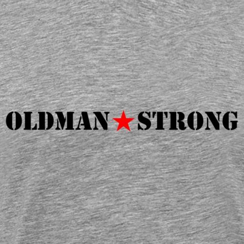 Old Man Strong Star Black Text - Men's Premium T-Shirt