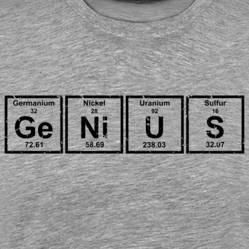 Genius (Periodic Elements) - Men's Premium T-Shirt