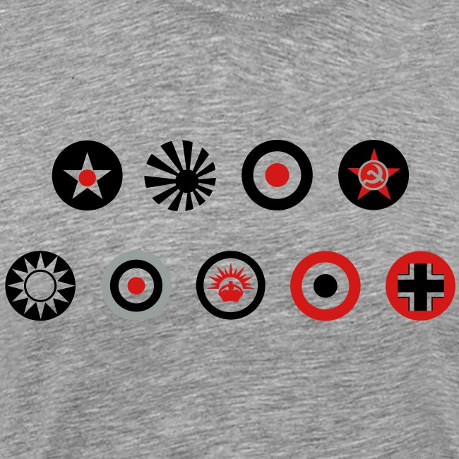 Axis & Allies Country Symbols - 3 Color