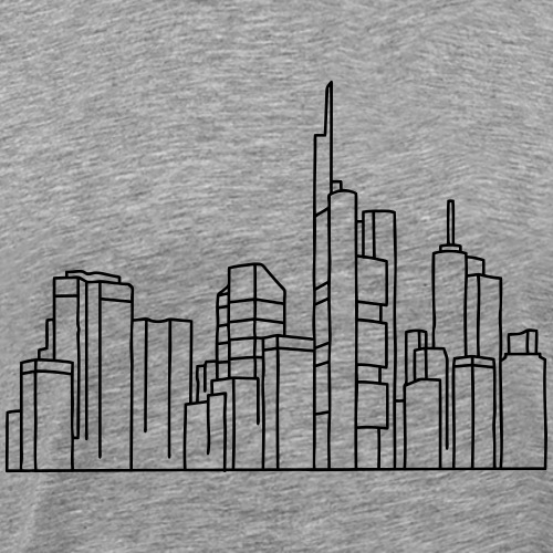 Skyline of Frankfurt - Men's Premium T-Shirt