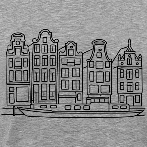 Amsterdam Canal houses - Men's Premium T-Shirt