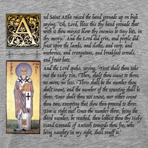 Holy Hand Grenade of Antioch - Men's Premium T-Shirt
