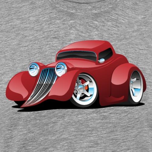 Red Hot Rod Restomod Custom Coupe Cartoon - Men's Premium T-Shirt