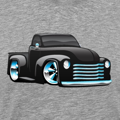 Hot Rod Pickup Truck Cartoon - Men's Premium T-Shirt