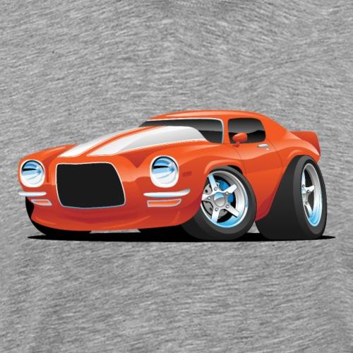 Classic Seventies Muscle Car Cartoon - Men's Premium T-Shirt