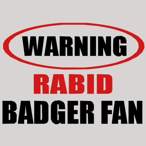 Rabid Badger Fan - Men's Premium T-Shirt