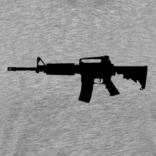 AR-15 Rifle Silhouette - Men's Premium T-Shirt