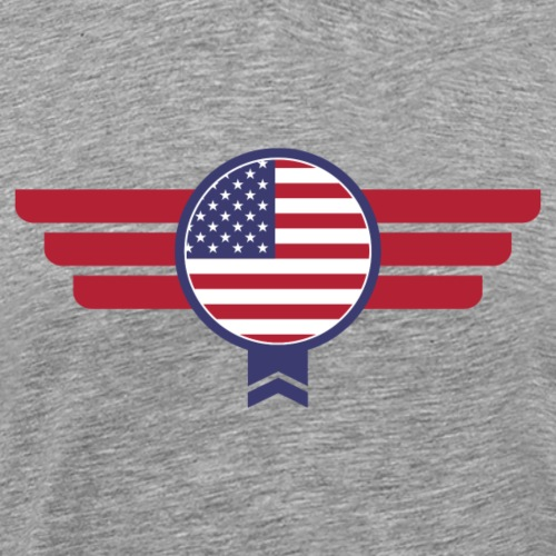 USA America Badge Military Flag - Men's Premium T-Shirt