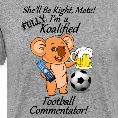 Football Commentator Black Letters - Light Clothes - Men's Premium T-Shirt