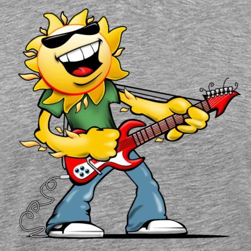 Guitar Jammin' Sun Cartoon - Men's Premium T-Shirt