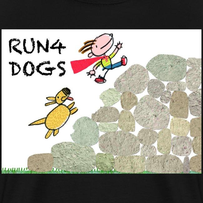 Dog chasing kid