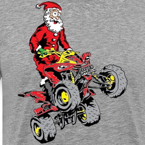 Santa Quad ATV - Men's Premium T-Shirt
