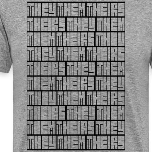 They Them Theirs (Repeating Block) - Men's Premium T-Shirt