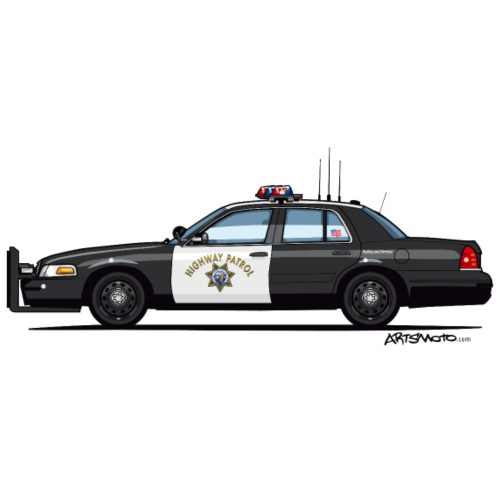 California Highway Patrol CHP Crown Vic (with - Men's Premium T-Shirt