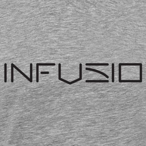 Infusio Logo Black 4000 pix - Men's Premium T-Shirt