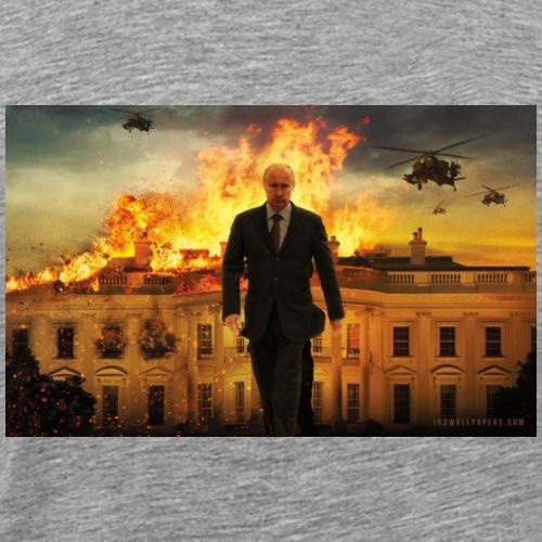 putin destroys white house - Men's Premium T-Shirt