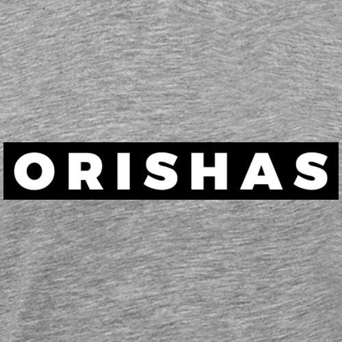 ORISHAS (White/Black Border) - Men's Premium T-Shirt