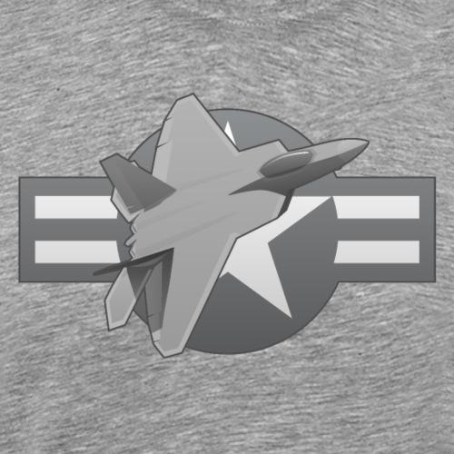 F-22 Raptor Military Fighter Jet - Men's Premium T-Shirt