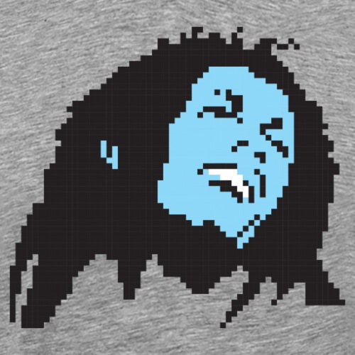 Pixel Bob Marley Portrait - Men's Premium T-Shirt