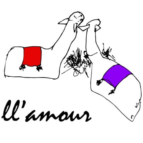 Llamour (color version). - Men's Premium T-Shirt